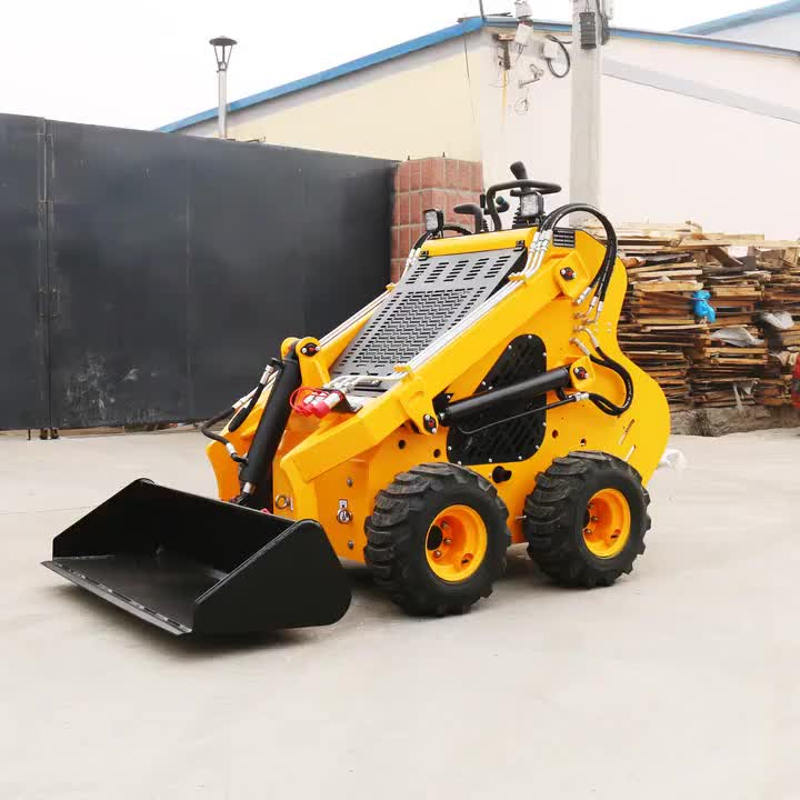 New cheap garden trucking 23hp gasoline wheel mini skid steer loader for sale