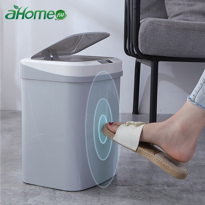 Home intelligent automatic induction electric Rubbish trash can smart Waste Bins  ashbin kick barrel battery version Trash Can