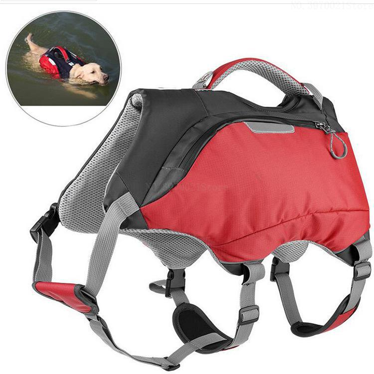 Waterproof Dog Backpack Outdoor Gear  Saddle Bag and Life Jacket for Medium/Large Dog