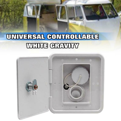 Square Threaded Fill Dish RV Hatch Cover