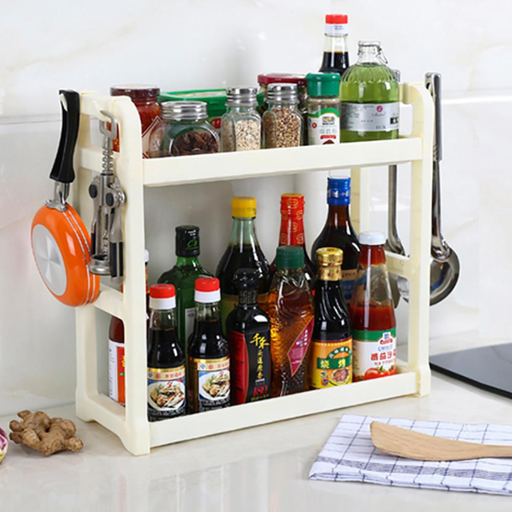Multifunction Double Layer Plastic Storage Rack S