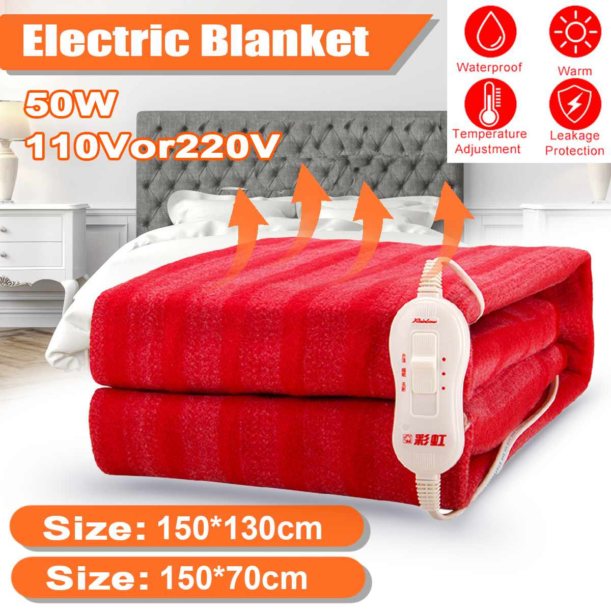 Washable Electric Blanket 110V/220V Double Single Waterproof Temperature Adjustable Warm Heaters Bed USB Heating Pad Heated Mat