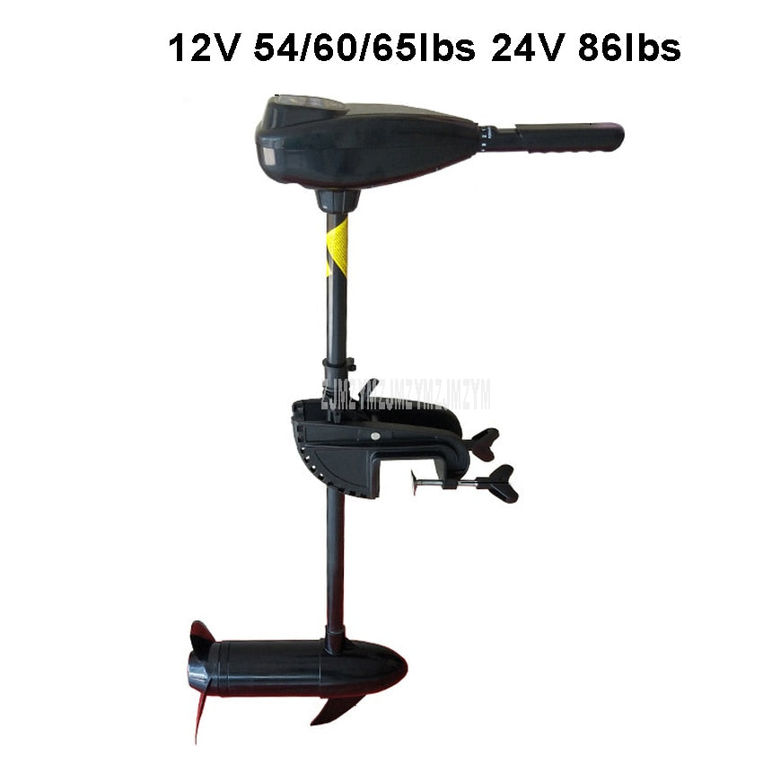 12V 54/60/65lbs 24V 86lbs Electric Trolling Motor Engine by Battery Driven High Quality Rowing Boat Engine For Inflatable Boat