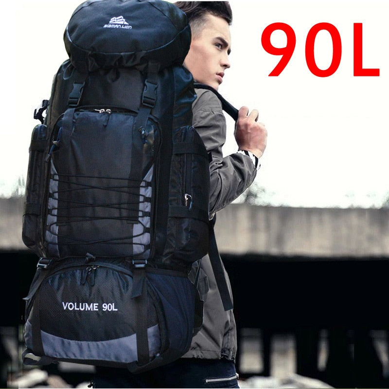 90L Travel Camping Backpack Rucksack