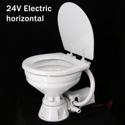 Marine Yacht RV Electric Toilet Vehicle-borne Ceramic Toilet 12V 24V
