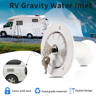 RV Gravity Water Fill Hatch Inlet Filter