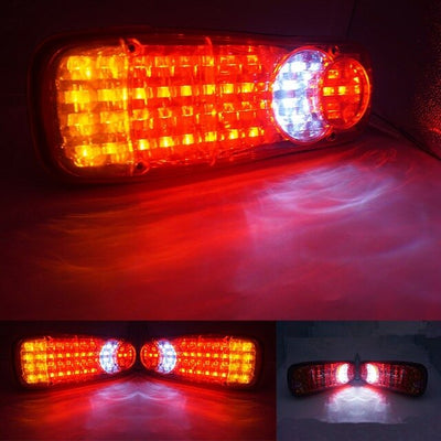 2Pcs Waterproof Car 8 19 20 24 30 46LED Tail Light Rear Lamps Pair Boat Trailer 12V/24V Rear Parts For Trailer Truck Car Light