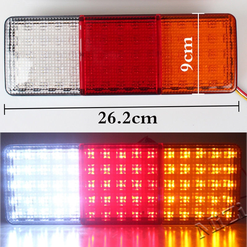 ABS 12V 75-LED Taillight Truck Trailer lights RV Boat Stop Rear Reverse Turn Indicator Lamp for Truck Trailer Taillights