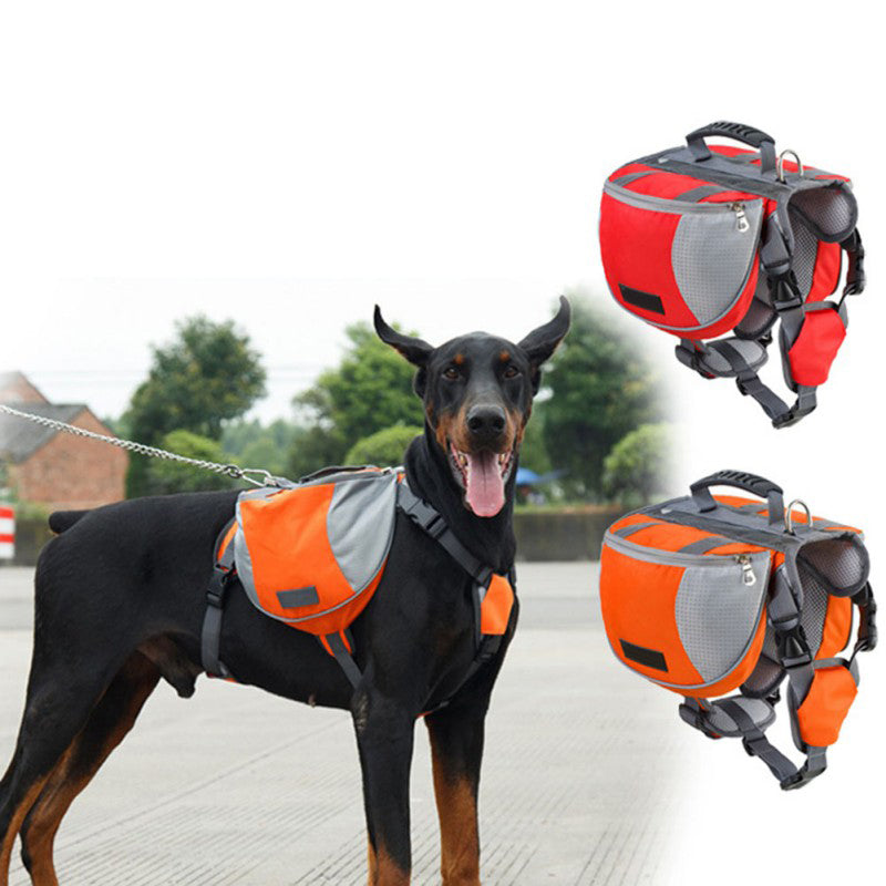 TAILUP Pet Outdoor Backpack Large Dog Reflective Adjustable Saddle Bag Harness