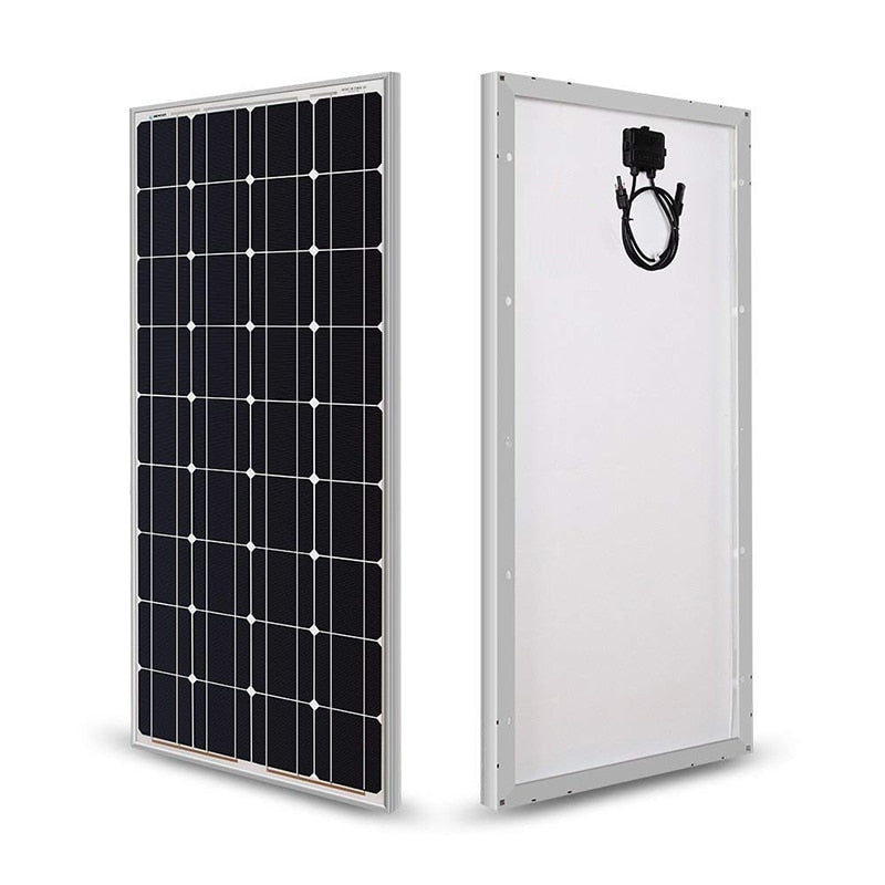 18V 100W/200W/300W/400W Monocrystalline Solar Panel for 12V Solar Battery