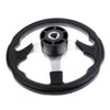 Marine 12.4'' 315mm Steering Wheel & 3/4'' Tapered Shaft Non-directional 3 Spoke Steering Wheel Boat