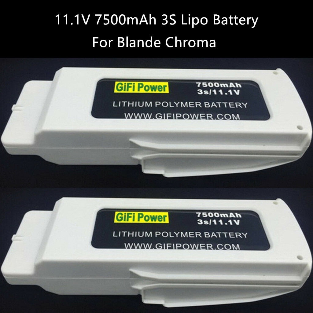 Accessories 2PCS Upgrade 11.1V 7500mAh Lipo Battery For Blande Chroma RC Drone Spare Part