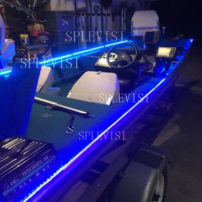 Wireless Blue White Red LED Strip Kit For Boat Marine Deck Interior Lighting 16 FT