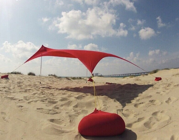 Free shiping hot sale Lycra fabric sun shade shelter tent stretch tent beach tent