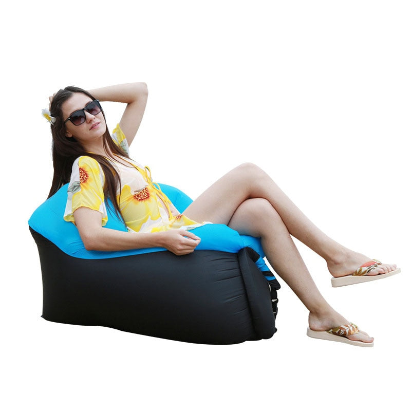 Camping Furniture Air Beach Chair Seat Cushion Portable Outdoor Grass Garden Inflatable Sleeping Chair Sofa Lounge
