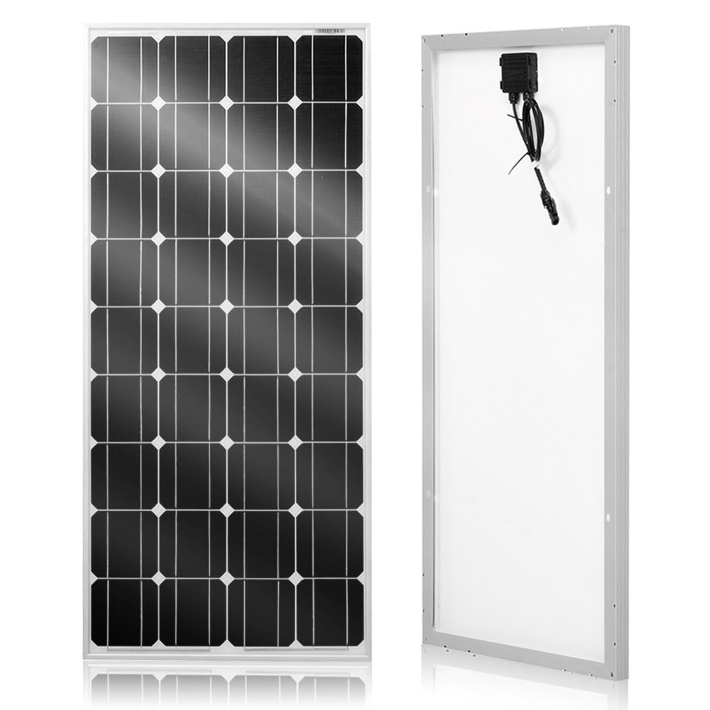 DOKIO Solar panel 100W 18V Glass solar Panels 200W 300W 400W Monocrystalline solar board  for home/RV 12V