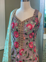 Floral Threadwork Suit