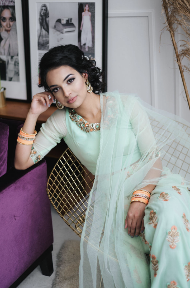 Wide Leg Sharara with Blouse