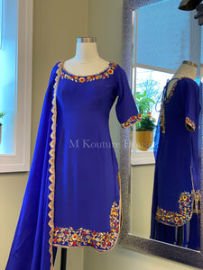 Royal Blue Salwar Suit