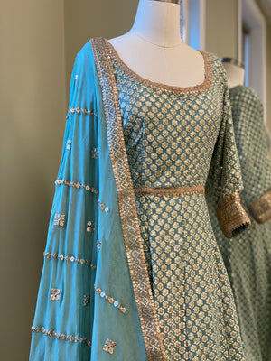Sequins Work Anarkali