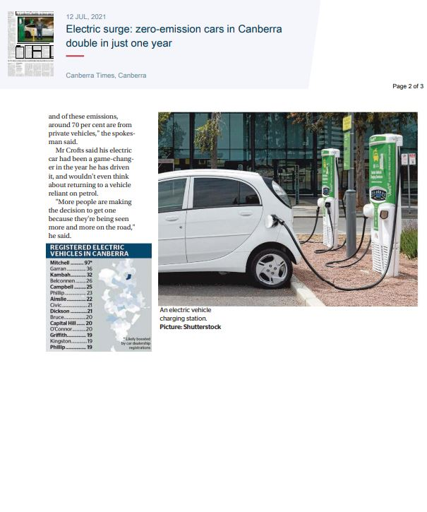 electric cars canberra