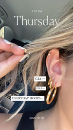 Elle Hoops- 14 Karat Gold Dipped