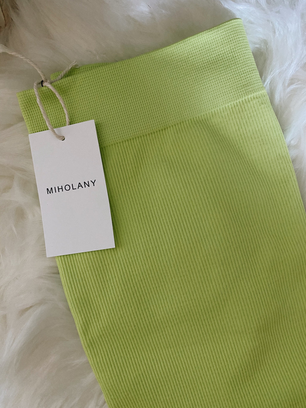 Lime Yours Biker Shorts