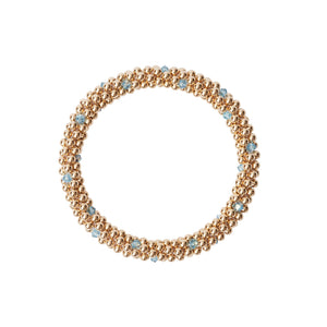 14 KT Gold bracelet with Aqua Marine Dot Design Bracelet