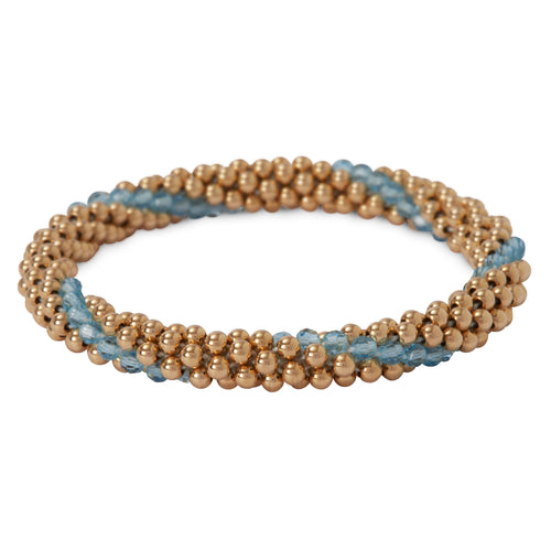 14 Kt Gold filled bracelet with Aqua Marine Line Design Bracelet