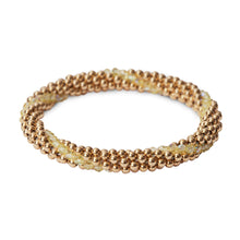 Load image into Gallery viewer, 14 Kt gold filled beaded bracelet with Jonquil Swarovski crystals in a line design