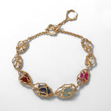 Breeze multi-coloured stones necklace