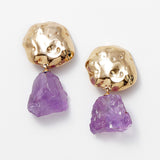 Lajedo amethyst stone party earrings