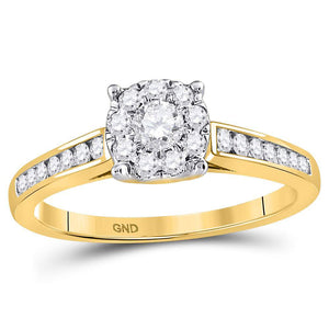 14kt Yellow Gold Round Diamond Solitaire Wedding Engagement Ring 1/2 Ctw