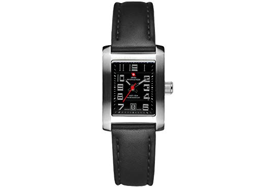 Swiss Mountaineer Women's Black Genuine Leather Strap Watch SM1333