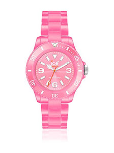 Ice-Watch Unisex Classic Pastel CS.PK.B.P.10 Pink Plastic Quartz Watch with Pink Dial