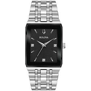 Bulova Men's 96D145 Japanese-Quartz Black Watch