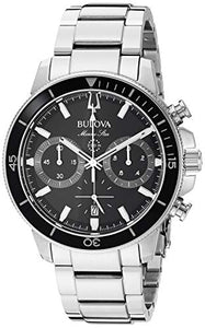 Bulova Men's 96B272 Japanese-Quartz Black Watch