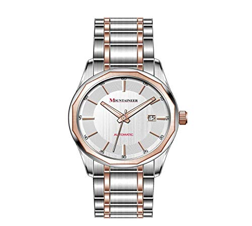 Mountaineer Mens Two-Tone Stainless Steel Automatic Watch MJ4001