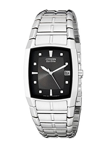 Citizen Men's BM6550-58E Eco-Drive Stainless Steel Black Dial Watch