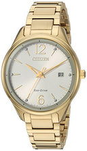Load image into Gallery viewer, Citizen Women's FE6102-53A Eco-Drive Analog Display Japanese Quartz Gold Watch