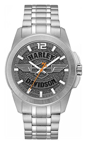 Harley-Davidson Silver Stainless Steel Watch 76A157