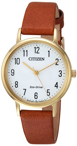 Citizen Women's EM0572-05A Eco-Drive Analog Display Japanese Quartz Brown Watch
