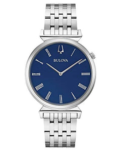 Bulova 96A233 Men's Classic Regatta Blue Dial Bracelet Watch