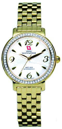 Swiss Mountaineer Women's Gold Stainless Steel Band Watch SM1541