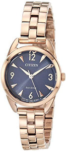 Citizen Women's Drive Quartz Stainless Steel Strap, Pink, 11 Casual Watch (Model: EM0688-78L)