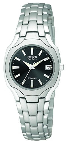 Citizen Women's EW1400-53H Eco-Drive Titanium Dark Grey Dial Watch