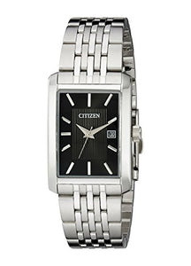 Citizen Men's BH1671-55E Rectangular Silver-Tone Bracelet Watch
