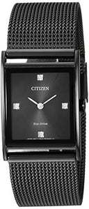 Citizen Eco-Drive Japanese-Quartz Stainless-Steel Strap, Black, 23 Casual Watch (Model: BL6008-53E)