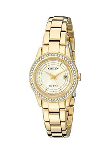 Citizen Women's FE1122-53P Dress Analog Display Japanese Quartz Gold Watch