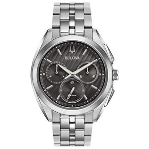 Bulova CURV Men's Grey Dial Chronograph Stainless Steel Watch 96A186